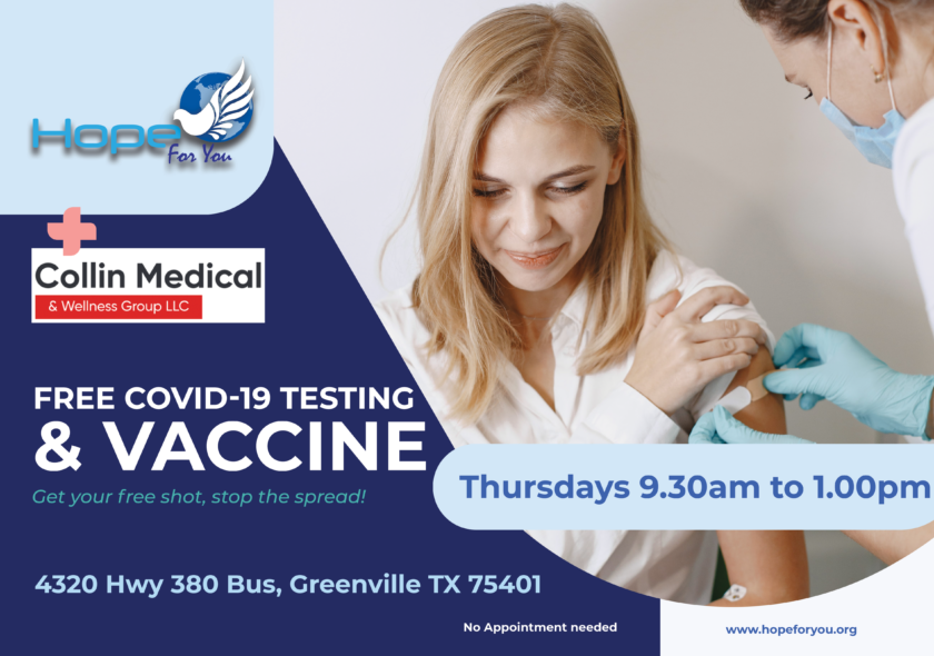Free COVID-19 Test & Vaccination